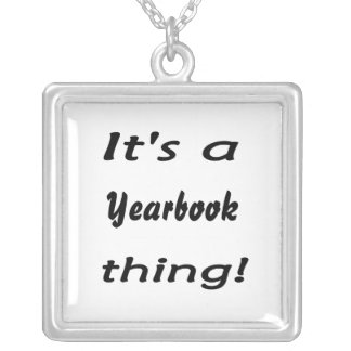 It's a yearbook thing! square pendant necklace