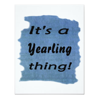 It's a Yearling thing! Announcement