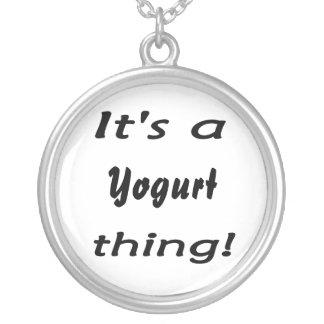 it's a yogurt thing! round pendant necklace