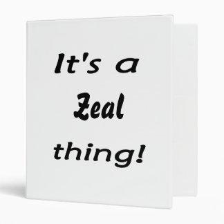 It's a zeal thing! vinyl binder
