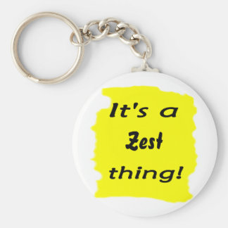 It's a zest thing! basic round button keychain