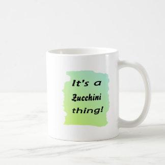 It's a zucchini thing! classic white coffee mug