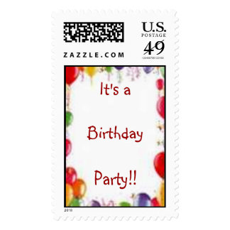 It's aBirthdayParty!! Postage Stamps