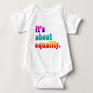 It's About Equality Gay Rights Products Baby Bodysuit
