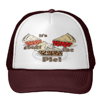 Its About the Pie THANKSGIVING BAKERY HOLIDAY Trucker Hat