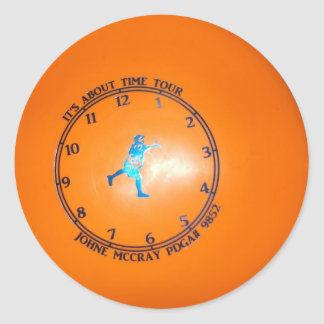 It's About Time Tour Disc Picture Classic Round Sticker