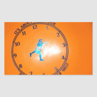 It's About Time Tour Disc Picture Rectangular Sticker