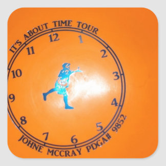 It's About Time Tour Disc Picture Square Sticker