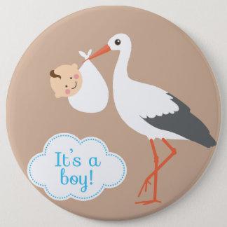 it's aboy baby shower love  cute pinback button