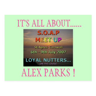 IT'S ALL ABOUT......, ALEX PARKS ! POSTCARD