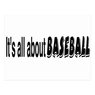 It's All About Baseball Postcard