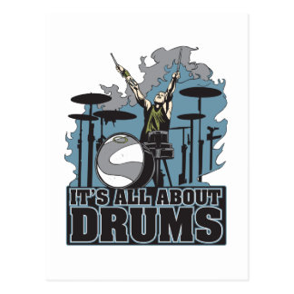 It's All About Drums Postcard