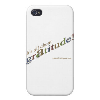 """""""It's all about gratitude!"""" signature collection Cover For iPhone 4"""