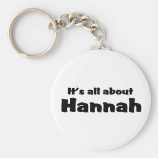 It's all about Hannah Key Chains