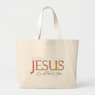 It's All About Him Tote Bags