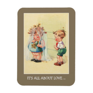 It's all about Love. Valentine's Day Gift Magnet
