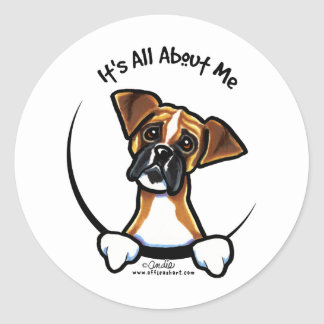 Its All About Me :: Boxer Classic Round Sticker