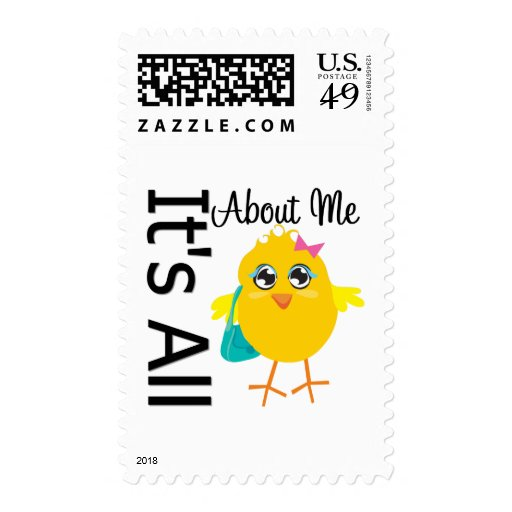 Its All About Me Chick Stamp