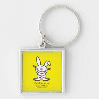 It's All About Me Silver-Colored Square Keychain