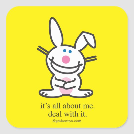 It's All About Me Square Sticker