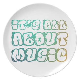 It's all about music - music is love,music is life plate