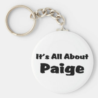 It's all about paige keychain