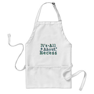 It's All About Recess Adult Apron