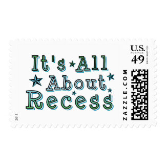 It's All About Recess Postage Stamps