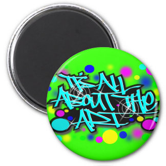 ITS ALL ABOUT THE ART3 babyblue.svg Refrigerator Magnet