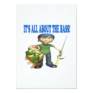Its All About The Bass 5x7 Paper Invitation Card