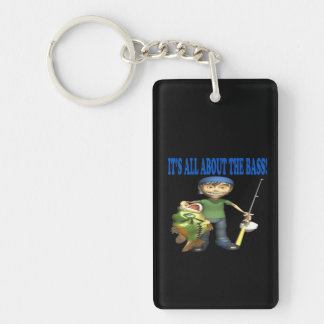 Its All About The Bass Rectangle Acrylic Key Chains