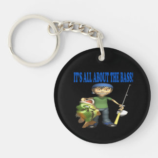 Its All About The Bass Acrylic Keychain