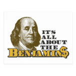 It's All About the Benjamins Post Card