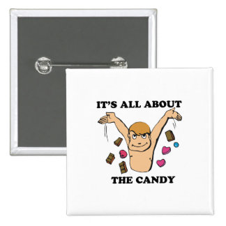 its all about the candy 2 inch square button