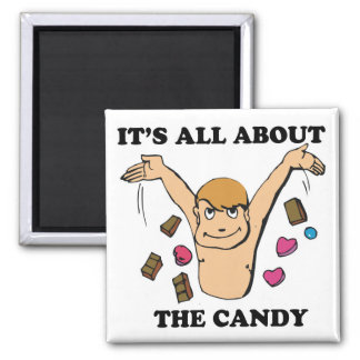 its all about the candy 2 inch square magnet