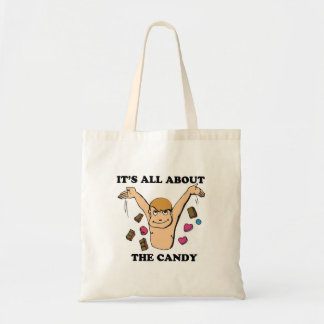 its all about the candy budget tote bag