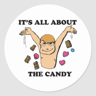 its all about the candy classic round sticker