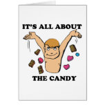 its all about the candy greeting card