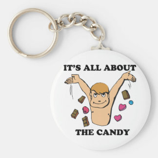 its all about the candy basic round button keychain