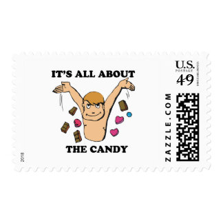 its all about the candy postage