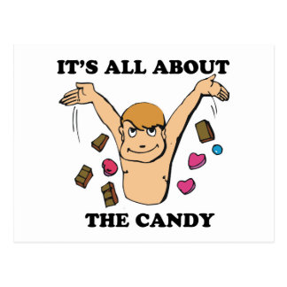 its all about the candy postcard
