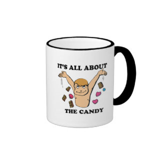 its all about the candy ringer coffee mug