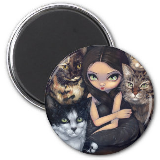 """It's All About the Cats"" Magnet"