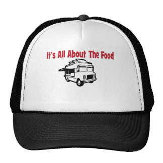 its' all about the food food truck trucker hat