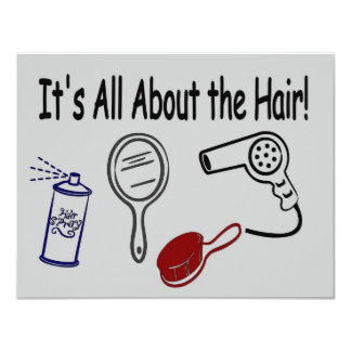 It's All About the Hair! Card