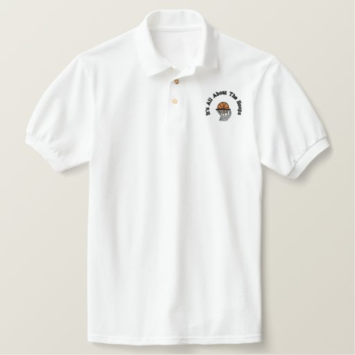 It's All About The Hoops Embroidered Polo Shirt