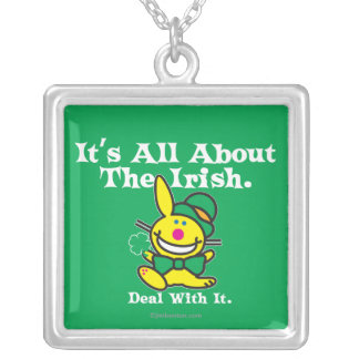 It's All About The Irish (green) Silver Plated Necklace