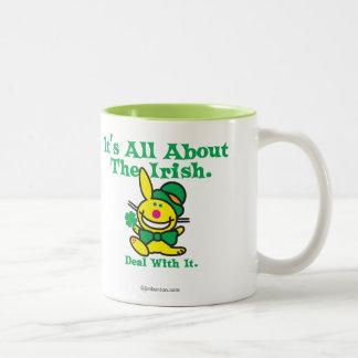 It's All About The Irish Two-Tone Coffee Mug