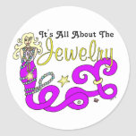 (It's All About The) Jewelry Mermaid Classic Round Sticker