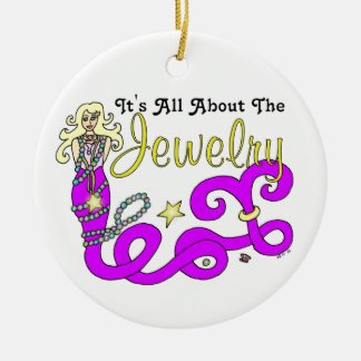 (It's All About The) Jewelry Mermaid Double Design Ceramic Ornament